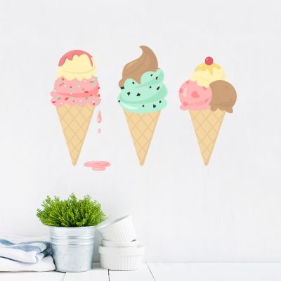 Ice Creams Printed Wall Decal