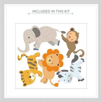 Safari Pattern Animals Printed Wall Decal Kit
