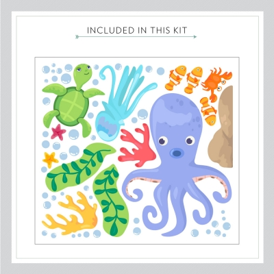 Sea Family Two Printed Wall Decal Kit