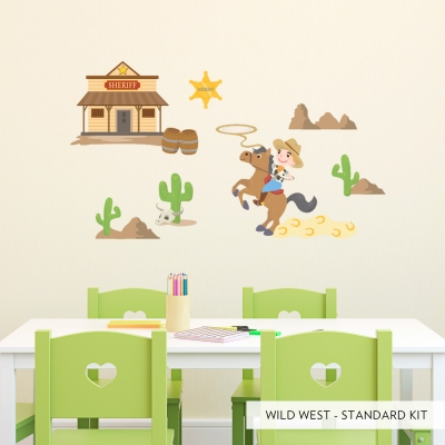Standard Wild West Printed Wall Decal