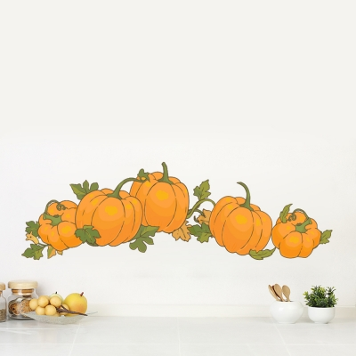 Autumn Pumpkins Printed Decal