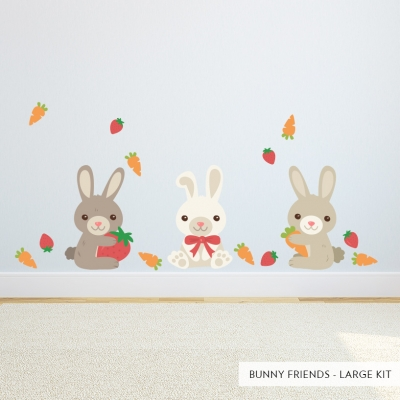 Bunny Friends Large Printed Wall Decal