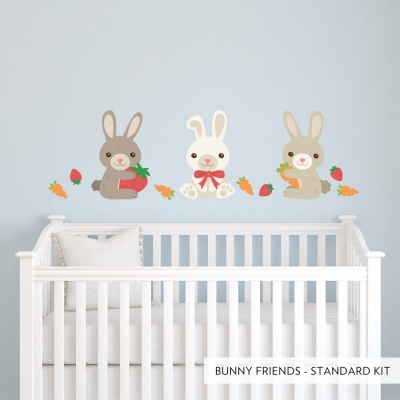 Bunny Friends Printed Wall Decal