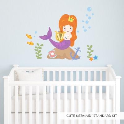 Cute Mermaid Printed Wall Decal