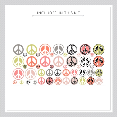 Printed Peace Signs Kit
