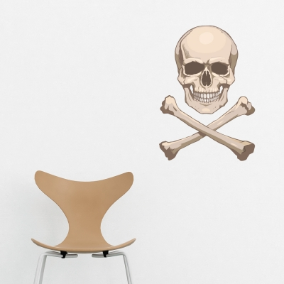 Realistic Skull Printed Decal