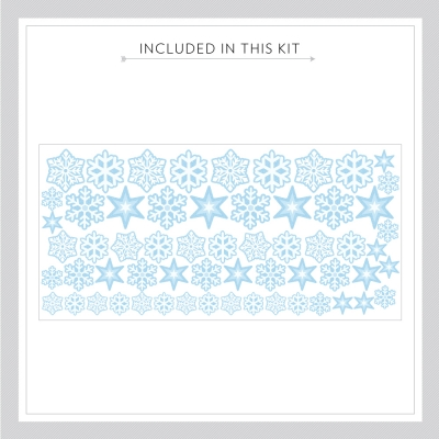 Repositionable Snowflakes Kit