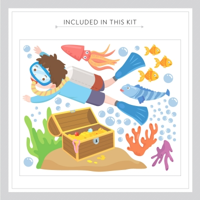 Underwater Treasure Decal Kit