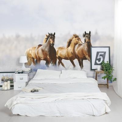 Winter Horses Wall Mural Bedroom