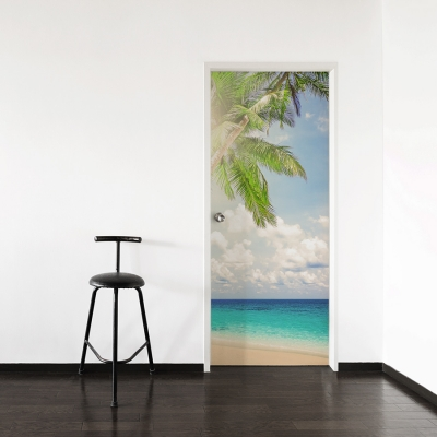 Bright Palm Door Mural