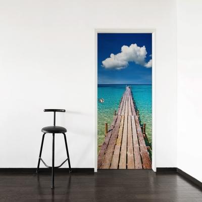 Caribbean Pier Door Mural
