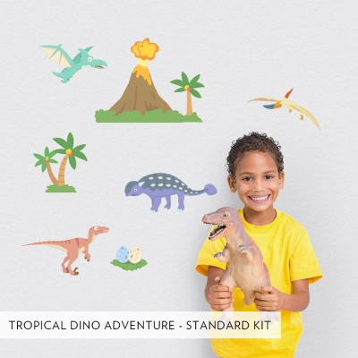 Tropical Dino Adventures Printed Wall Decal