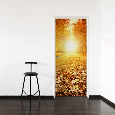 Fall Path Door Mural