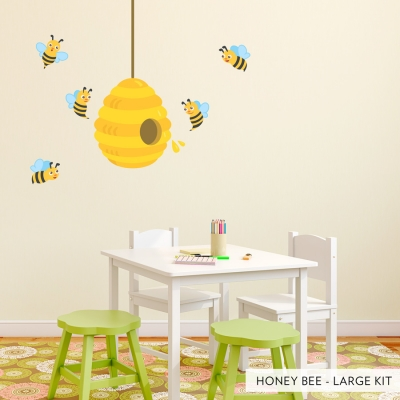 Honey Bees Large Printed Decal
