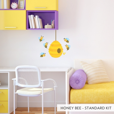 Honey Bees Printed Wall Decal