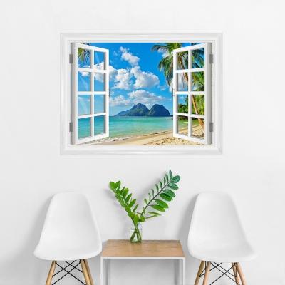 Island Paradise Window Mural