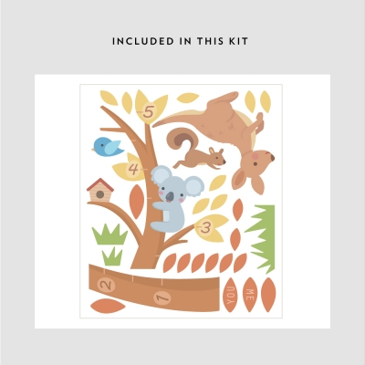 Koala and Kangaroo Growth Chart Kit