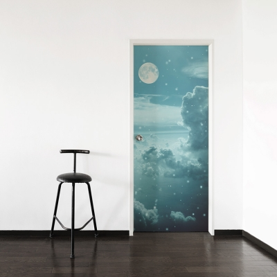 Night Sky Door Mural