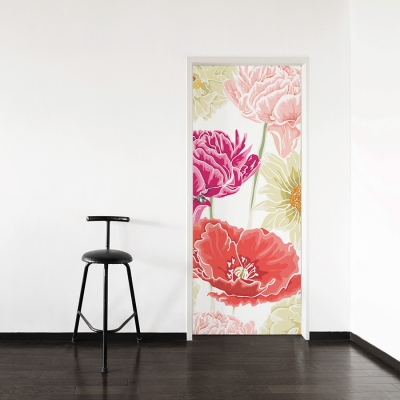 Painted Flower Door Mural