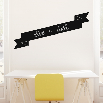 Chalkboard Banner Wall Decal