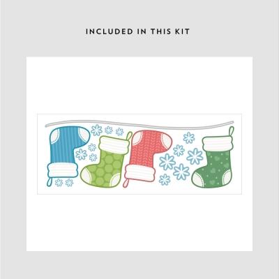 Christmas Stockings Printed Wall Decal Kit