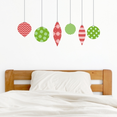Christmas Ornaments Set Two Standard Printed Wall Decal