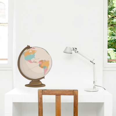 World Globe Standard Printed Wall Decal