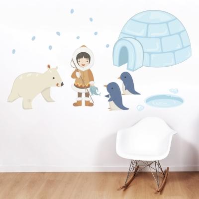 Eskimo Girl Printed Wall Decal