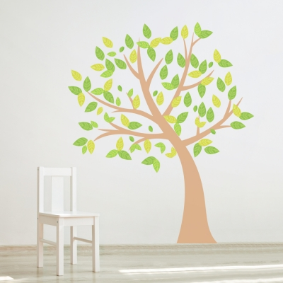 Four Season Tree Printed Wall Decal Spring