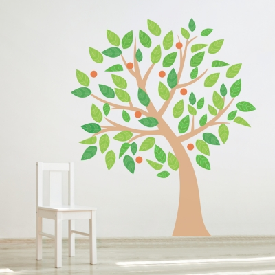 Four Season Tree Printed Wall Decal Summer