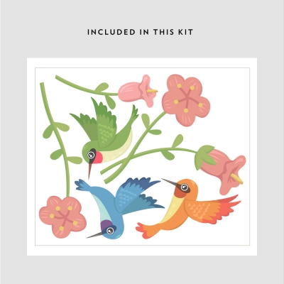 Hummingbird Trio Printed Decal Kit