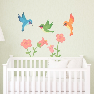 Hummingbird Trio Standard Printed Wall Decal