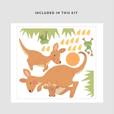 Kangaroo Familly Printed Decal Kit