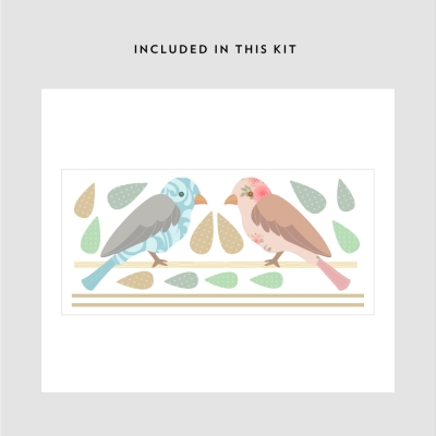 Love Birds Printed Decal Kit