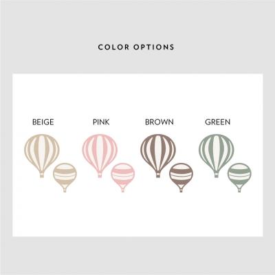 Mini Hot Air Balloons Color Options