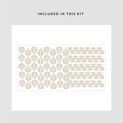 Mini Hot Air Balloons Printed Decal Kit