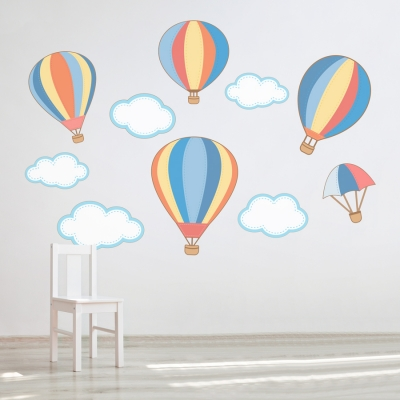 Hot Air Balloons Printed Wall Decal