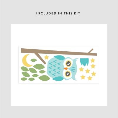 Night Owl Printed Wall Decal Kit