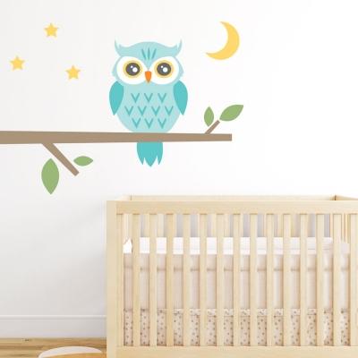 Night Owl Printed Wall Decal