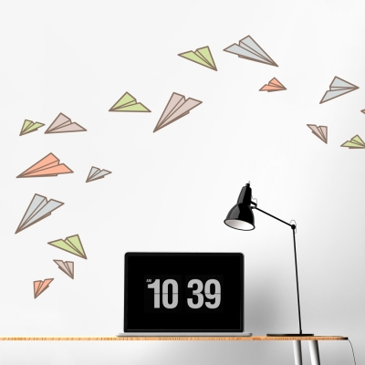 Paper Planes Printed Wall Decal
