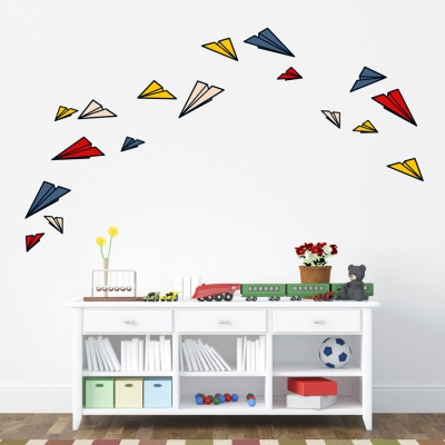 Paper Planes Standard Printed Wall Decal