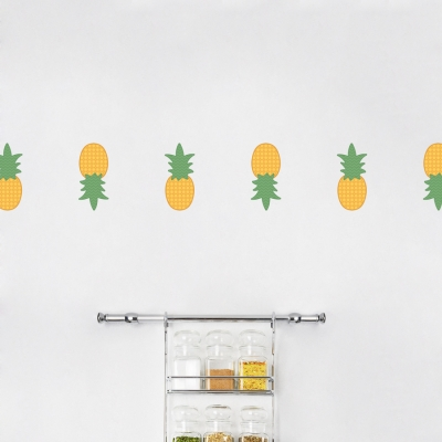 Mini Pineapples Standard Printed Wall Decal