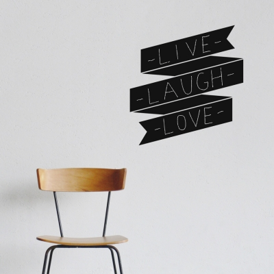 Chalkboard Retro Banner Wall Decal
