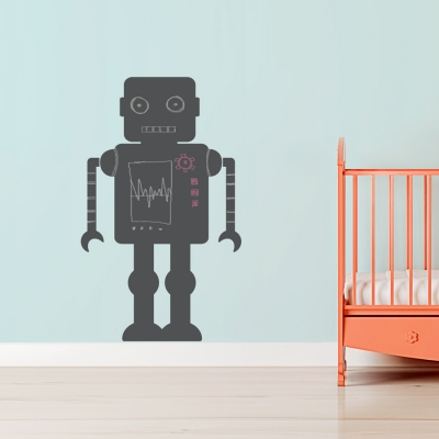 Chalkboard Robot Wall Decal