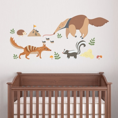 Sneaky Animals Standard Printed Wall Decal
