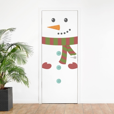 Snowman Face Printed Wall Decal