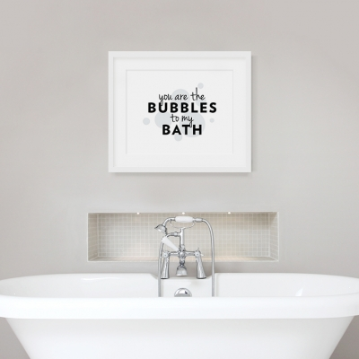 Bubbles to my Bath Art Print