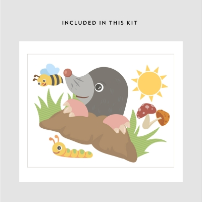Curious Mole Printed Decal Kit