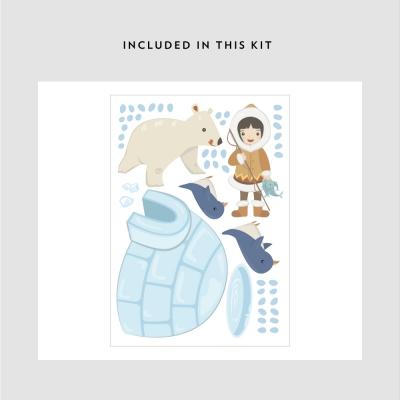 Eskimo Girl Printed Decal Kit