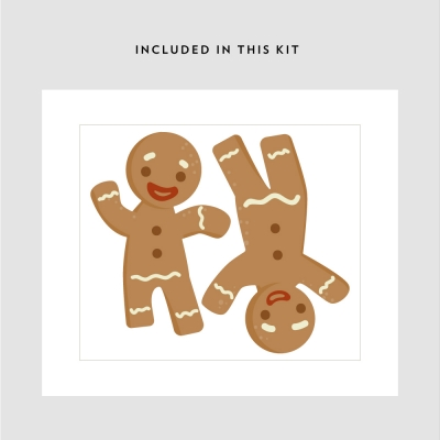 Gingerbread Men Printed Decal Kit